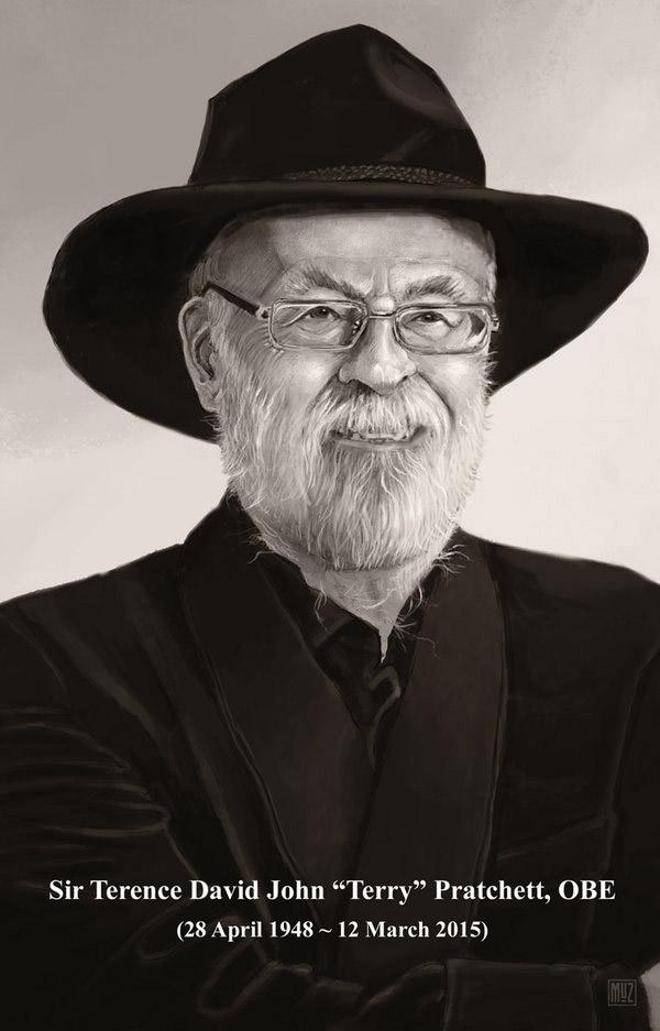 Terry Pratchett RIP (colab) by muzski