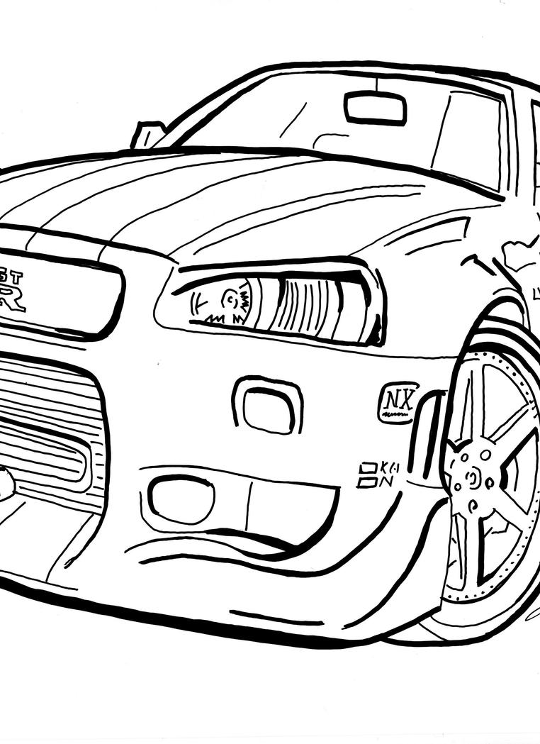 supra fast n furious free colouring pages