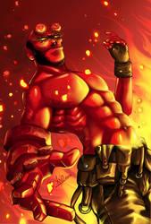 Hellboy by Khanito