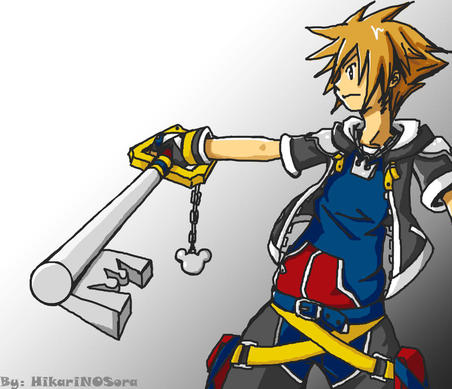 KH 2 - Sora by HikariNOSora