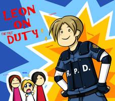 Leon on Duty by HikariNOSora