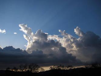 Dusk Cloud Mountains 03 by akenator