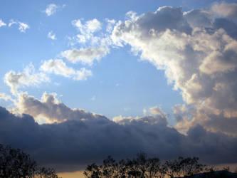 Dusk Cloud Mountains 02 by akenator