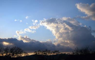 Dusk Cloud Mountains 01 by akenator