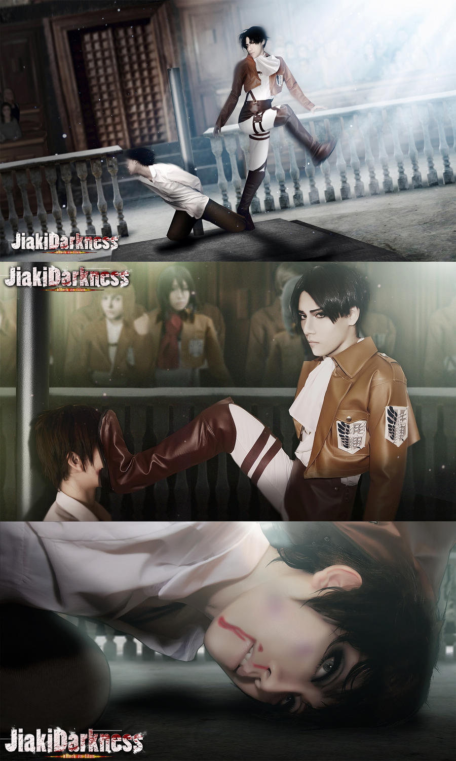 Revile Free Kick set Shingeki no Kyojin  cosplay by Jiakidarkness