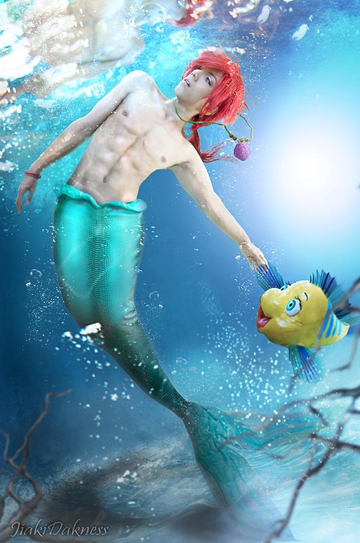 the little mermaid Prince Ariel by Jiakidarkness