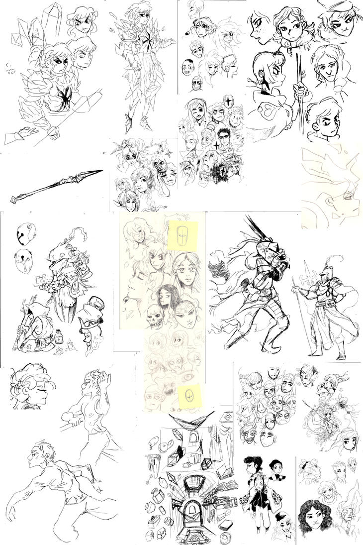 Sketchbook pages by Mr-King55