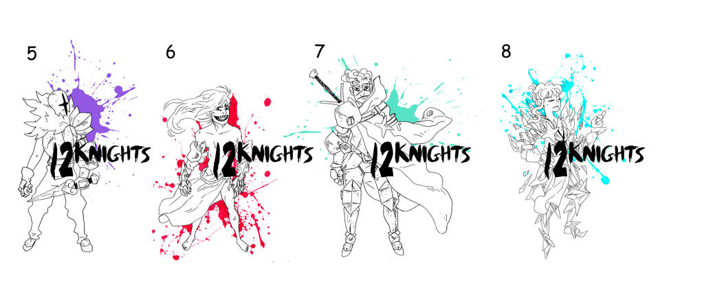 12knights 02 FREE ADOPTS by Mr-King55