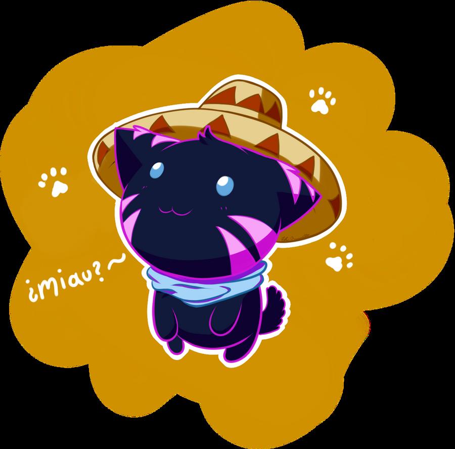 Kitty with Sombrero by eLirunes