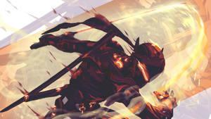 Black Steel Genji ( overwatch) by AnatoFinnstark