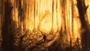 Let's wander in the forest...(speedpaint30min)