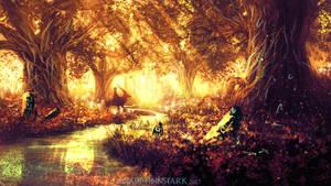 Ashitaka and the Tree Spirits (mononoke)