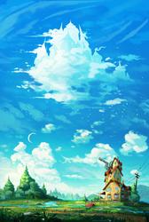 Look! A castle in the sky! by AnatoFinnstark