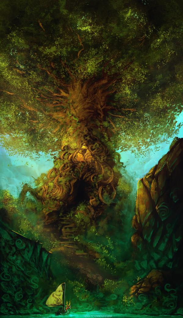 Zelda the wind waker : The tree of wisdom by AnatoFinnstark