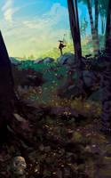 Something in the woods ( speedpaint 2 h ) by AnatoFinnstark