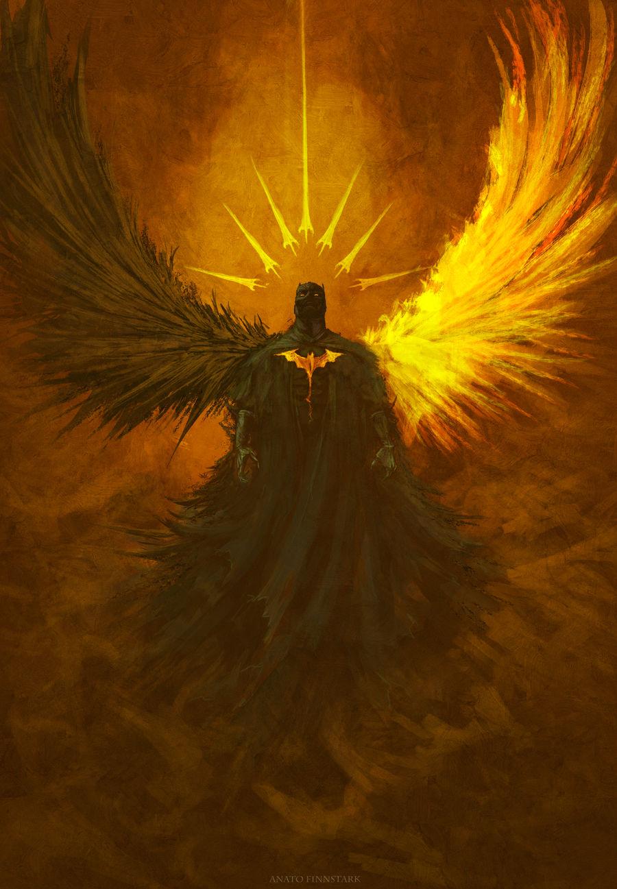 Between light and darkness ( batman ) by AnatoFinnstark