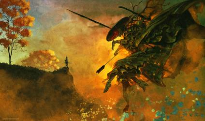 Sekiro. The primordial Tengu by AnatoFinnstark