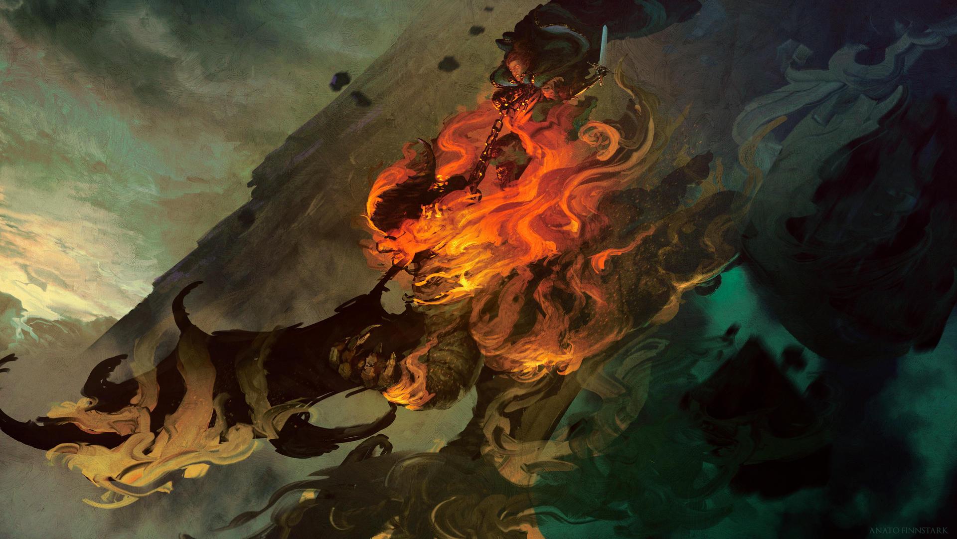 Glorfindel fighting the Balrog ( Tolkien )