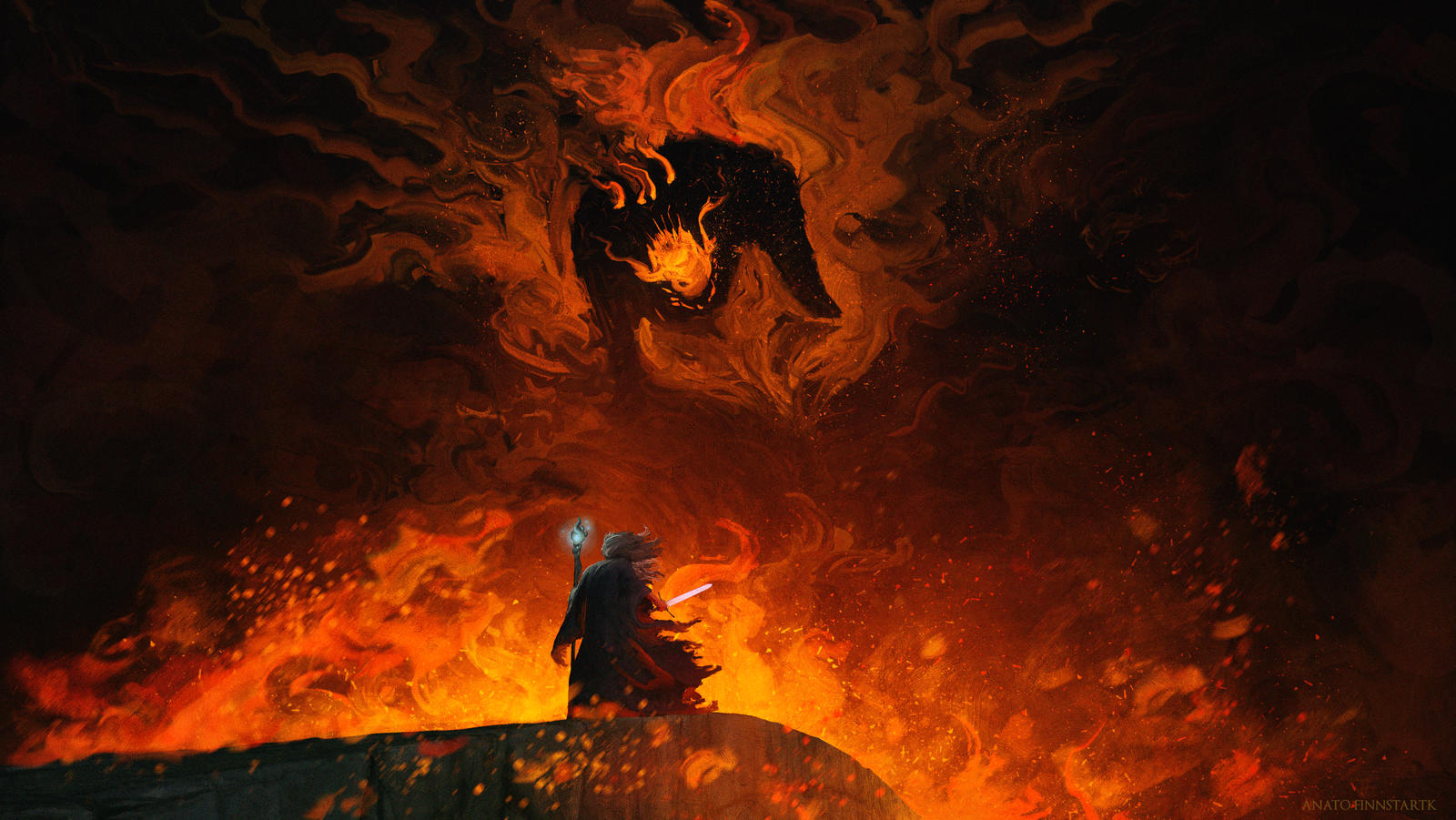 The Shadow and the Flame ( LOTR )
