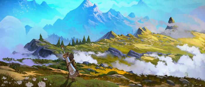 Zelda Breath of the wild ( Study 4 )