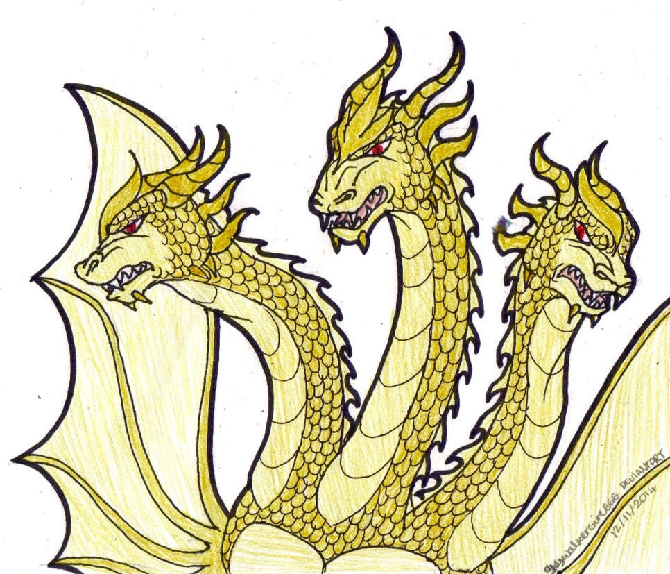 King Ghidorah by SkywalkerGirl666 on deviantART