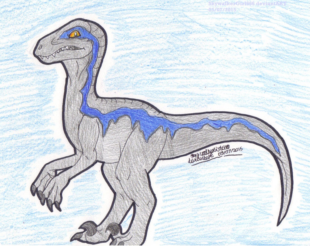 raptor blue coloring pages - photo#11