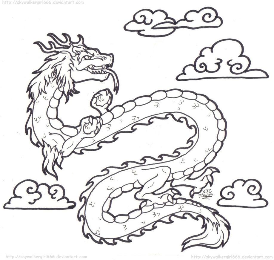 Eastern Style Dragon by SkywalkerGirl666