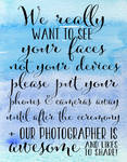 Wedding Photography 10 - Blue Watercolor