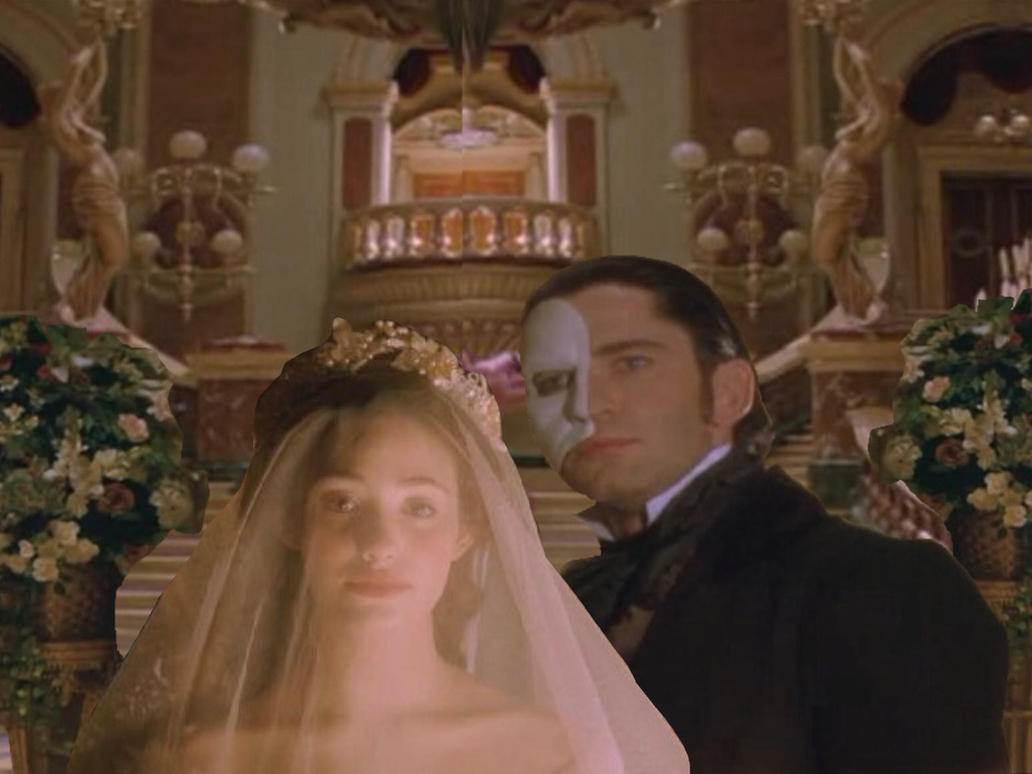 Erik and Christine's wedding by Faenwyn