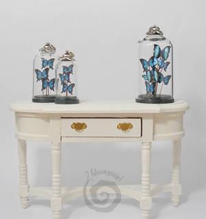 Miniature Butterflies Glass Dome Pendants
