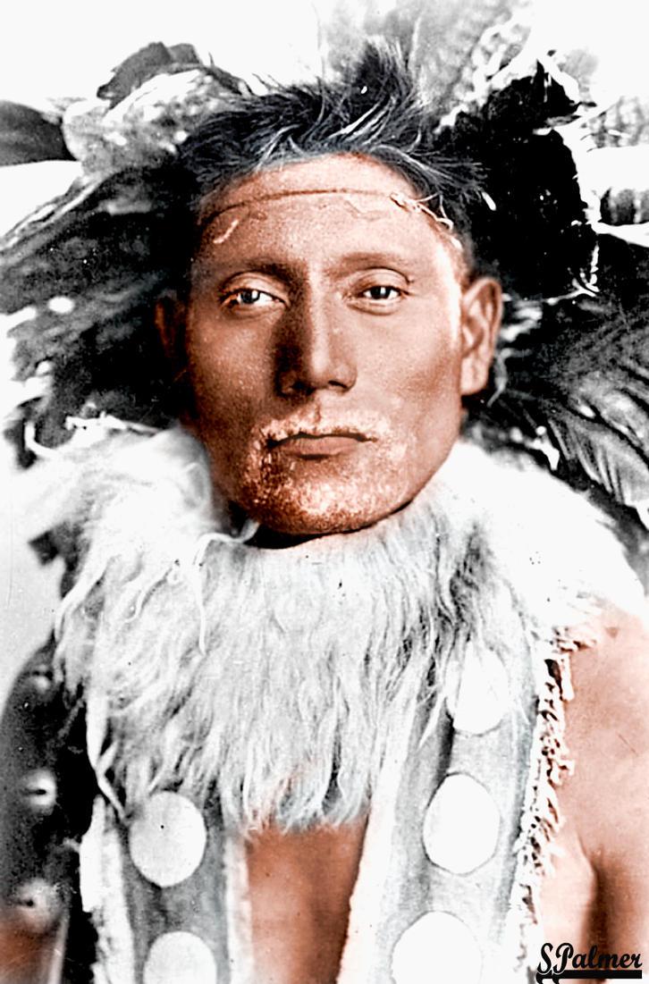 Ute Indian 1860's Colorized by ziegfeldfollies