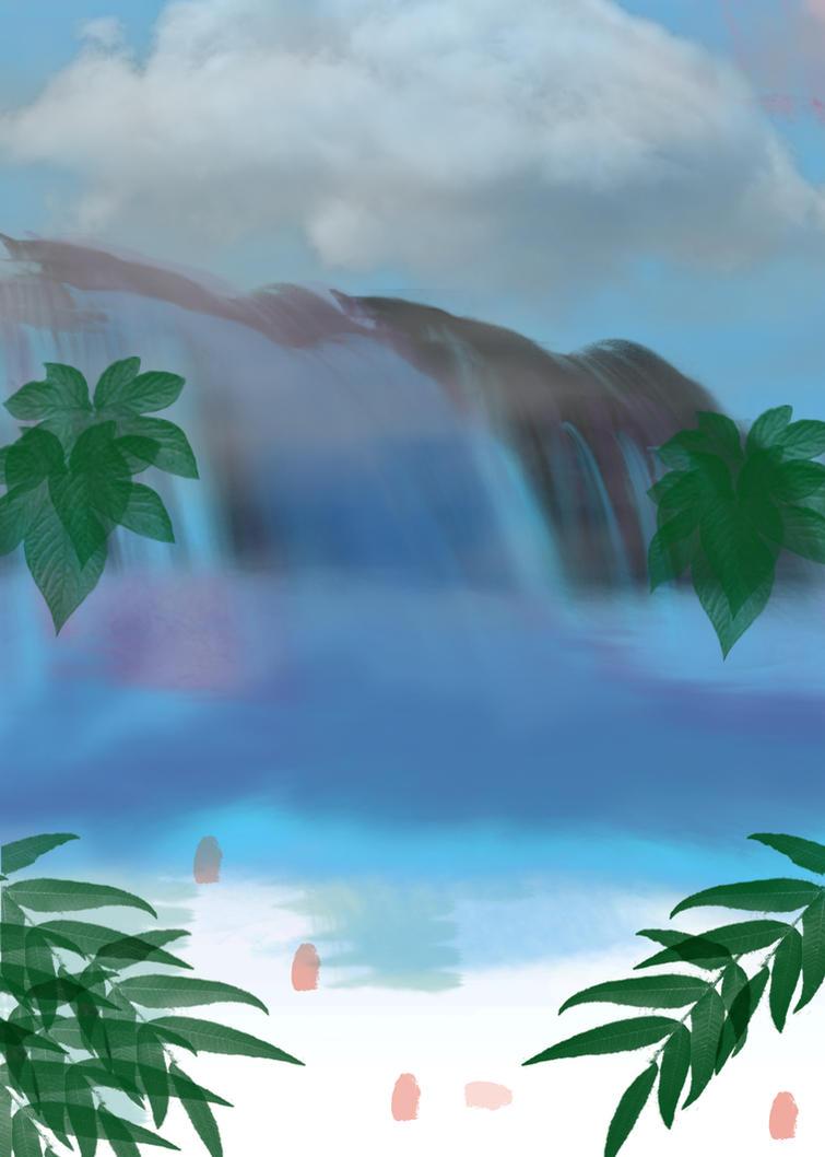 Waterfall Speedpaint 1 [FREE FULL-SIZE] by MrHydrogenius