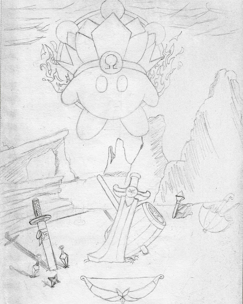 Omega Kirby rough sketch by narutocrash33