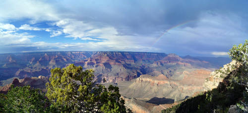 Rainbow over Grand Canyon by phxch