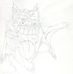 Bat Doodle by jamiemiller