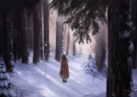 winter forest by Xeyni