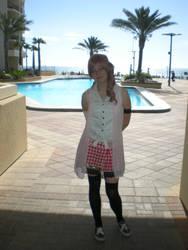 Serah at the pool