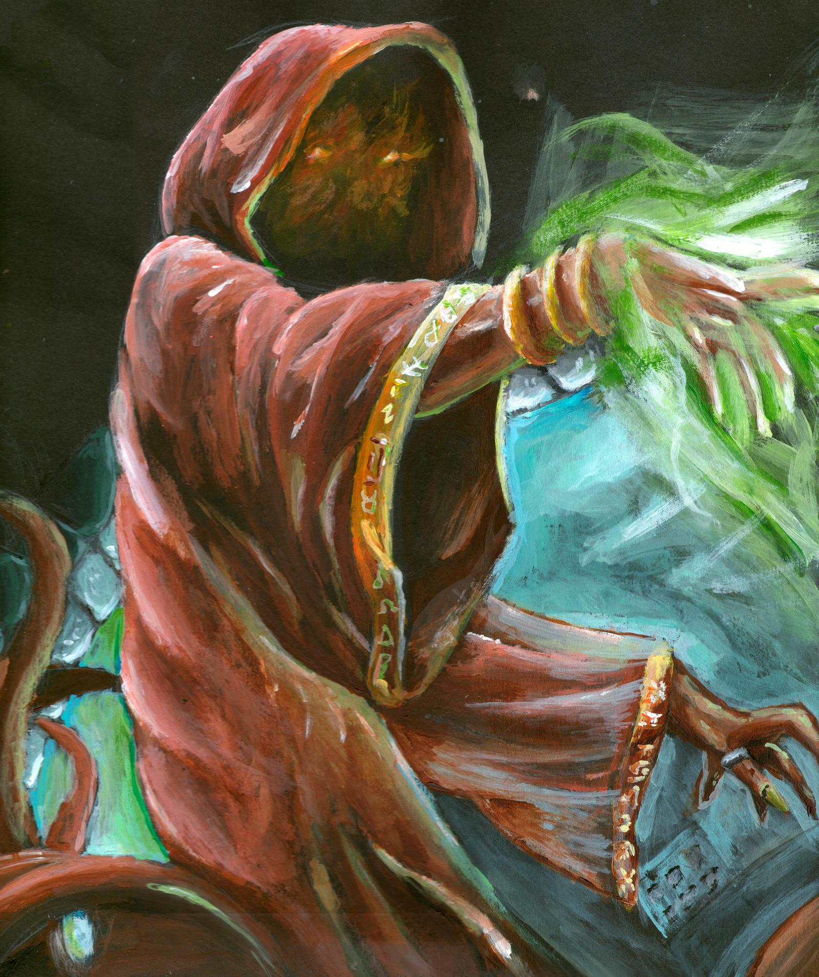 Dark Wizard Revis in Acryllic by Mach60-KAS on DeviantArt
