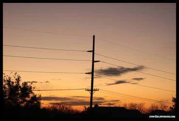 November Sunset I by fivepi0nt