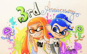 *'Happy 3rd Anniversary Splatoon!'* by AmyRosers