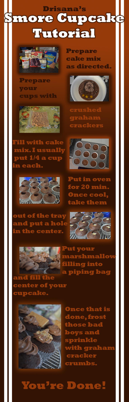 Smore Cupcake Tutorial by DrisanaRM