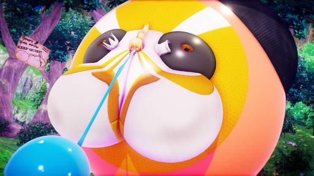 KonoSuba Darkness slime body inflation *release