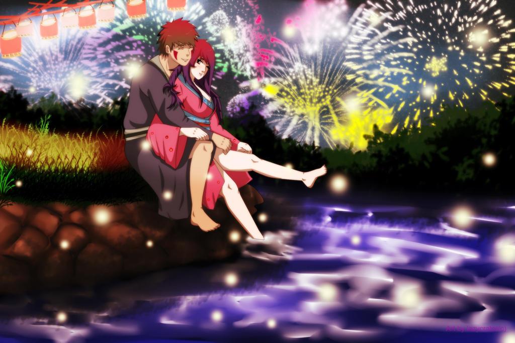 wonderful fireworks by lazycreator