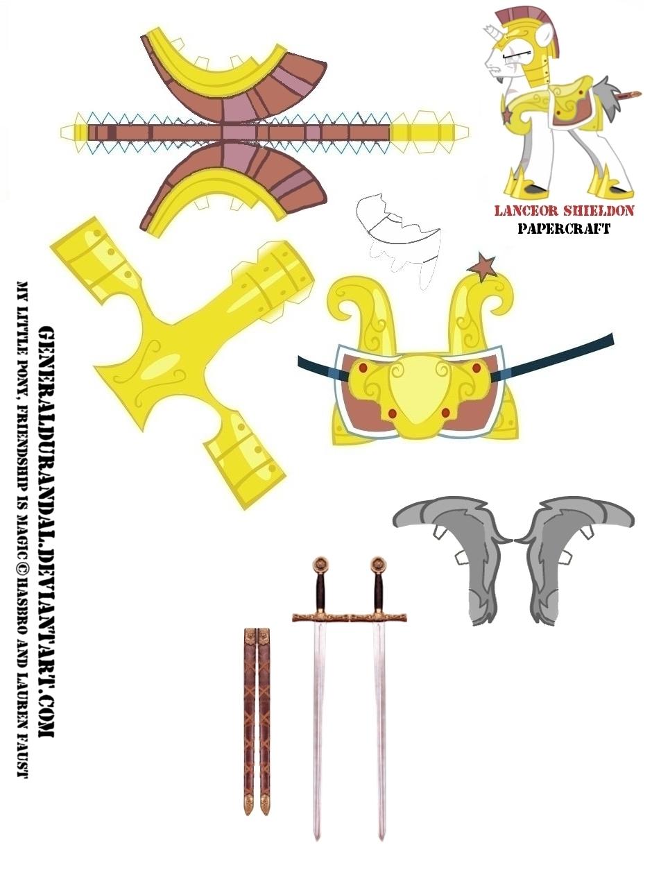 """Lanceor Shieldon"" for PaperCraft Part 2 by GeneralDurandal"