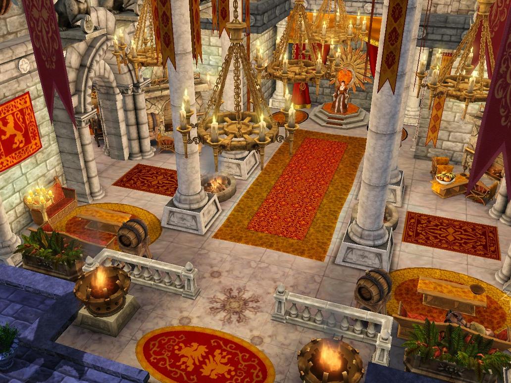 SIMS Medieval, Kaitlyn's Throne Room by GeneralDurandal on ...