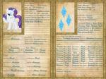 Rarity Character Sheet