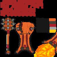 Ghusgamuisr - Gilgamesh - Grineer Weapon Concept by GeneralDurandal