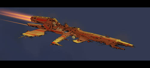 Heavy siege cruiser by SDFleshmaster