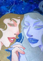 Apollo and Artemis by Gyuufun