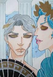 Zeus and Hera by Gyuufun